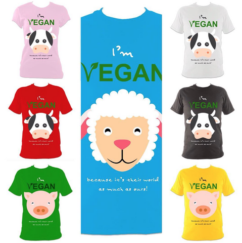 Various animal designs from Passoom vegan clothing