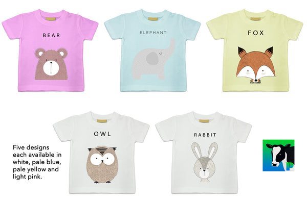 Hand drawn baby / toddler clothing designs from PASSOOM