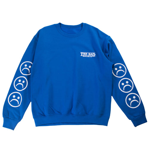 The Sad Society™ Sad Face™ Blue Sweatshirt