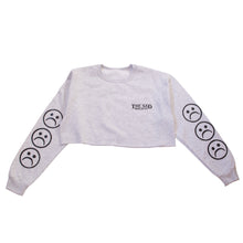Sad Society Crop Grey Sweatshirt