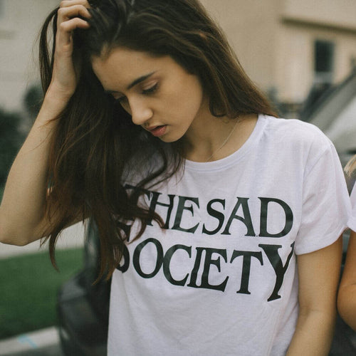 The Sad Society™ Vintage Flowy White T Shirt