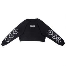 The Sad Society™ Sad Face™ Black Cropped Sweatshirt
