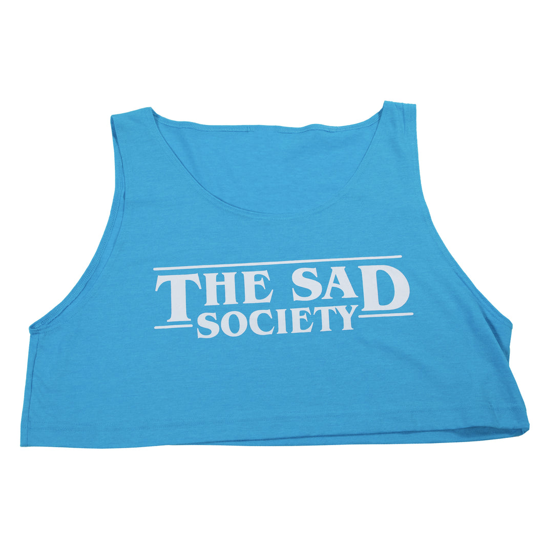The Sad Society Neon Blue Loose Crop Tank