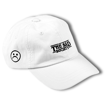 The Sad Society Bogo White Dad Hat