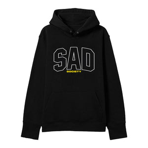 The Sad Society™ VARSITY BLACK HOODIE