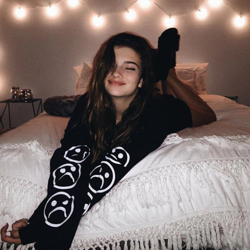The Sad Society™ Sad Face™ Vintage Black Sweatshirt