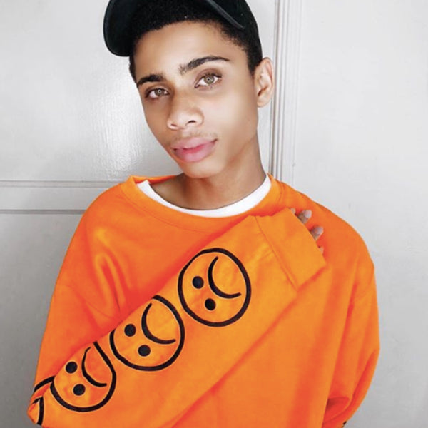 The Sad Society™ Sad Face™ Safety Orange Sweatshirt