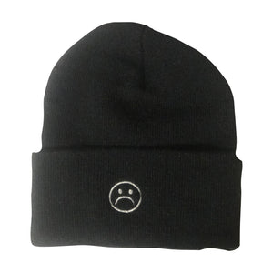 The Sad Society Reversable Black Beanie