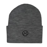 The Sad Society Reversable Grey Beanie