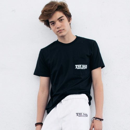 Sad Society Black pocket tee