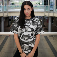 The Sad Society™ Black and White Camo T Shirt