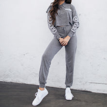 Sad Society Tri Blend Grey Cropped Pajama Set