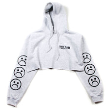 Sad Society Sad Face Grey Crop Hoodie