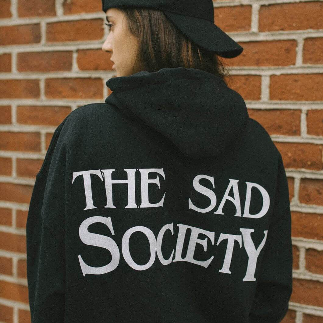 The Sad Society™ Black Vintage Hoodie