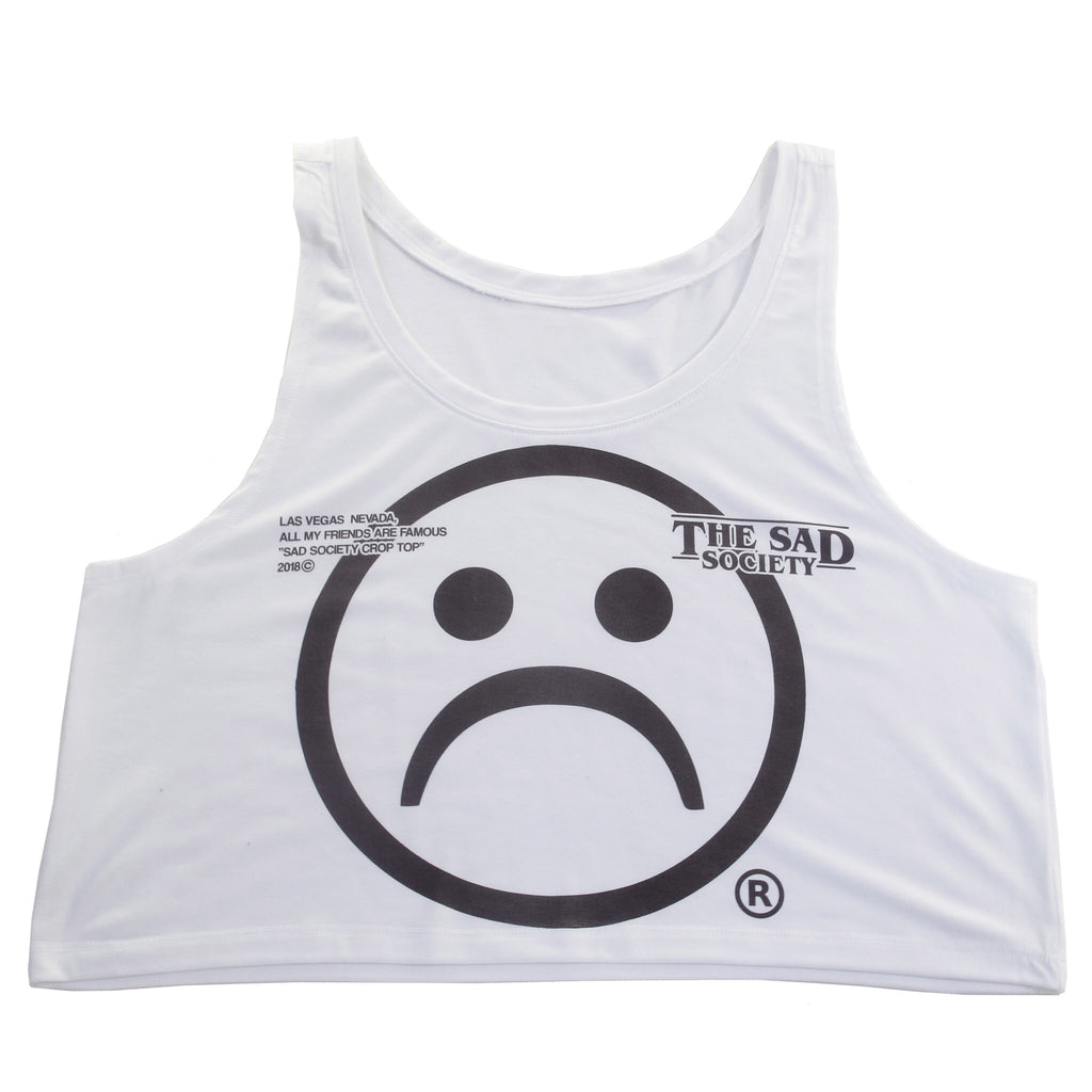 The Sad Society Famous Friends Crop Top