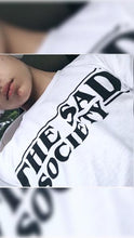 The Sad Society™ White Flowy T Shirt