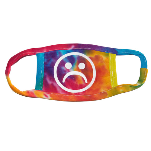 Sad Society Multi Rainbow Tie Dye Mask