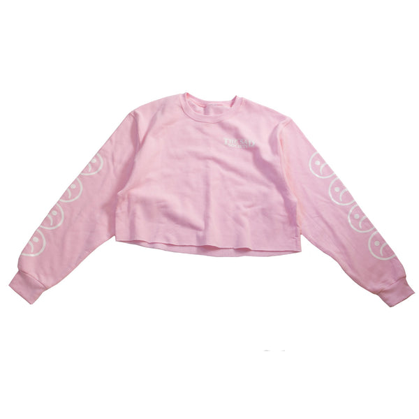 Sad Society Crop Pink Sweatshirt