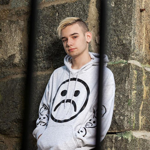 Sad Society Sad Face Grey Hoodie