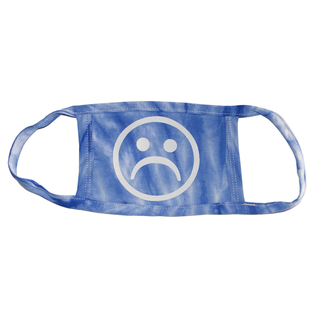 Sad Society Spider Royal Blue Tie Dye Mask