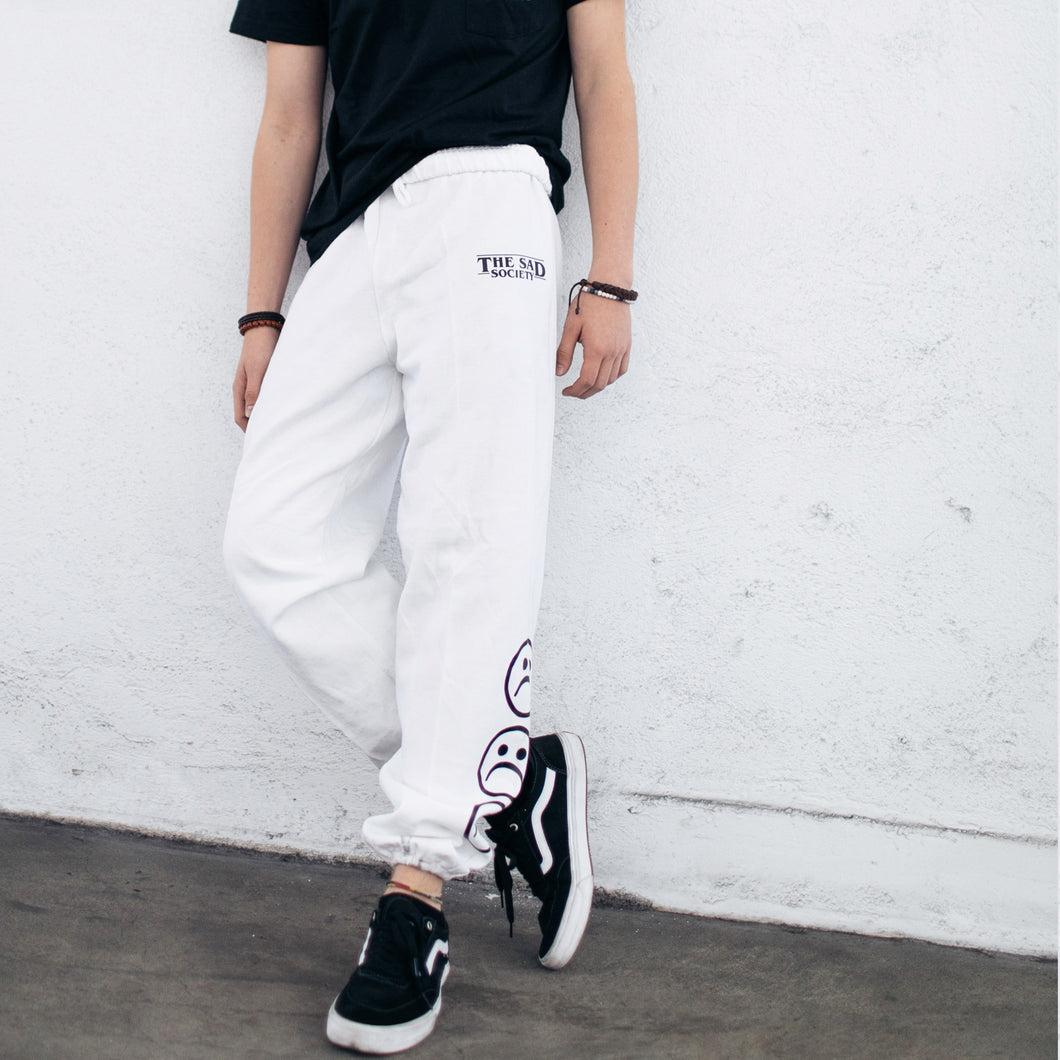 Sad Society White Sweat Pants