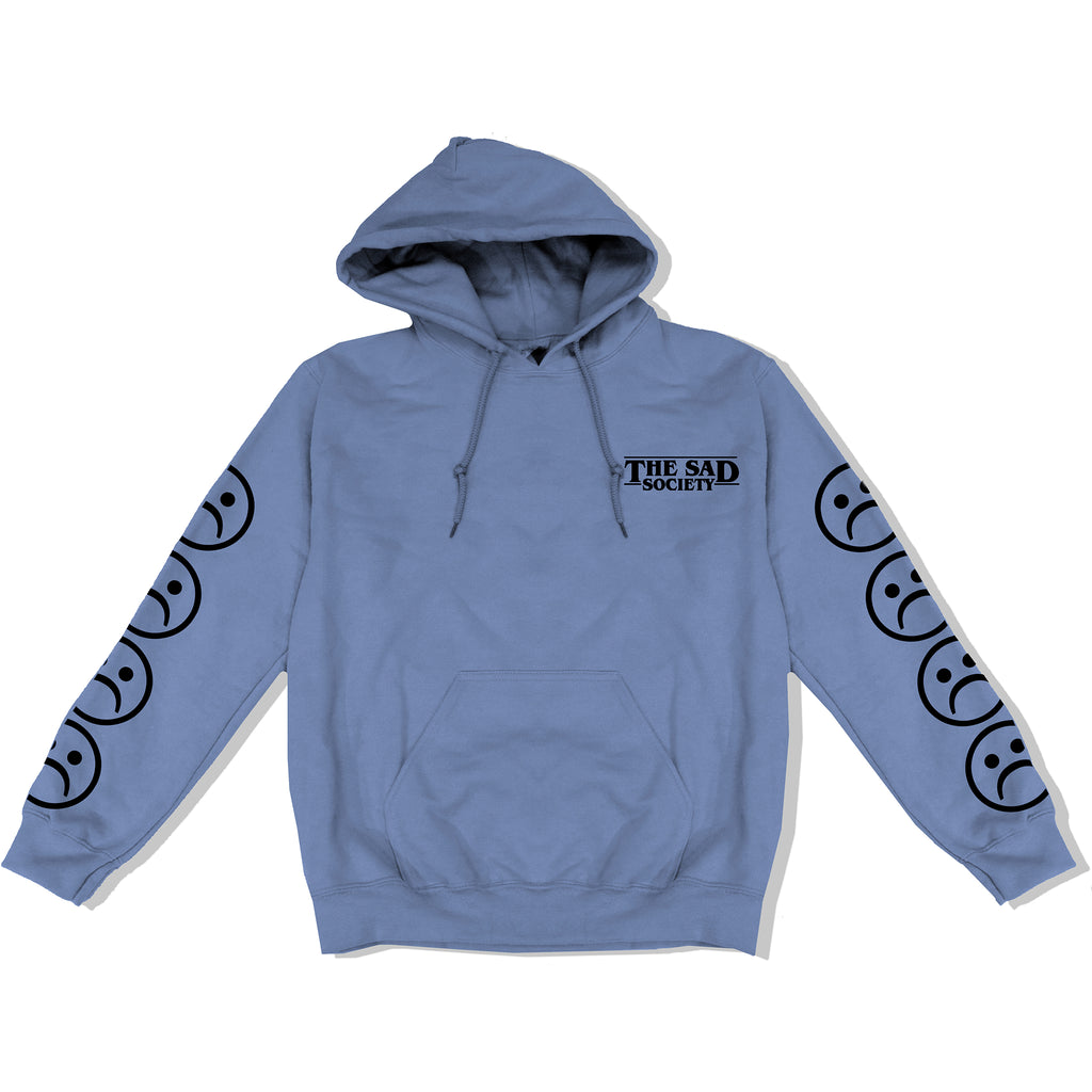 Baby Blue Bogo Sad Face Sleeved Hoodie