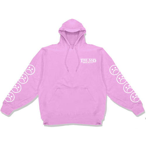 c9522713 Vintage Pink Bogo Sad Faced Sleeved Hoodie