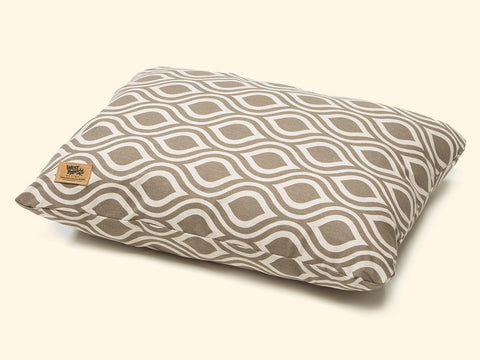 Dog Bed - West Paw Pillow Dog Bed-Walnut Groove