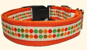 Dog Collar - GEORGE Dotty Ribbon Dog Collar
