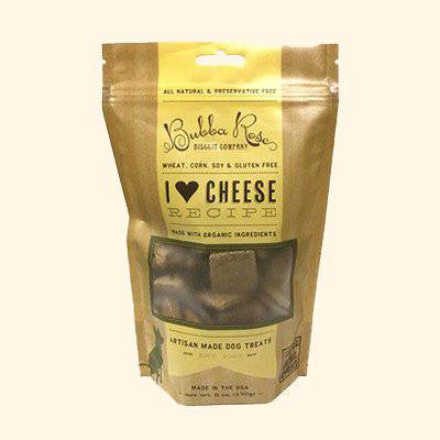 Dog Treat - I Heart Cheese - Bubba Rose Boxed Dog Biscuits