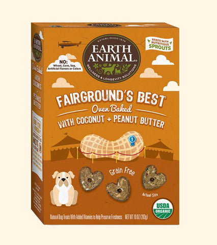 Fairgrounds Best Dog Cookies- 10oz-Coconut & Peanut Butter