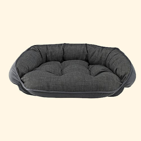 Pet Bed - Bowsers Storm Microvelvet Crescent Dog Bed