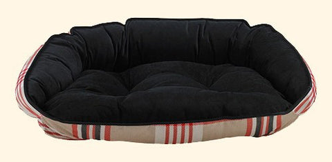 Pet Bed - Bowsers Turnberry Plaid Microvelvet Crescent Dog Bed