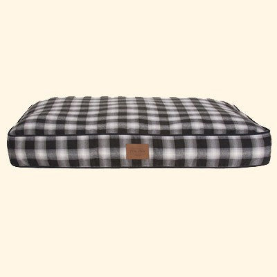 Carolina Charcoal Ombre Plaid Pet Napper Bed