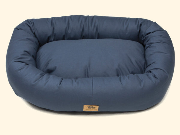 Pet Bed - West Paw Organic Cotton Bumper Dog Bed-Cobalt