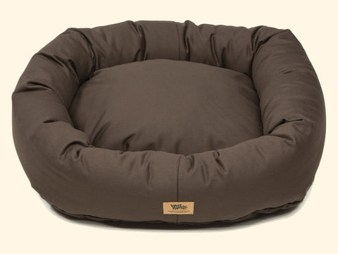 Pet Bed - West Paw Organic Cotton Bumper Dog Bed-Coffee