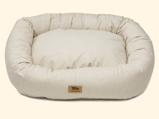 Pet Bed - West Paw Organic Cotton Bumper Dog Bed-Linen
