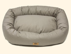 Pet Bed - West Paw Organic Cotton Bumper Dog Bed-Walnut