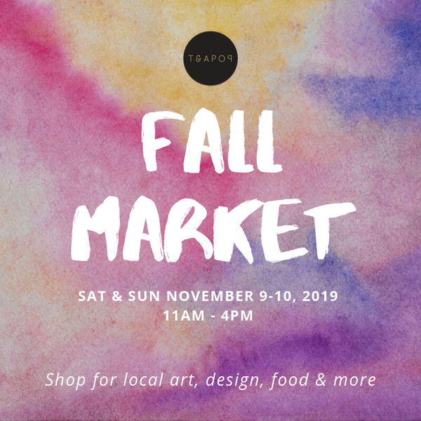 FALL POP MARKET Nov 9-10, 2019