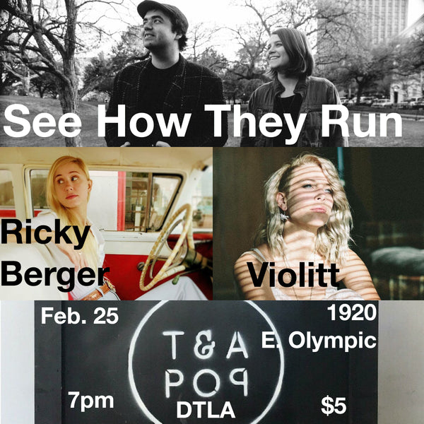 DTLA Live Music on February 25th // See How They Run & More