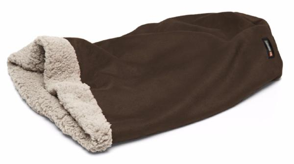 Coffee - true to the name, dark brown almost black with putty colored fleece