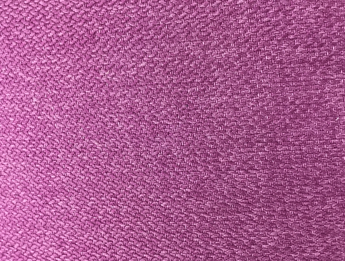 Close-up view of polyester canvas texture and weave