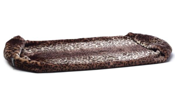 "Leopard Taza ""pulled out"" to full length to make a long blanket"