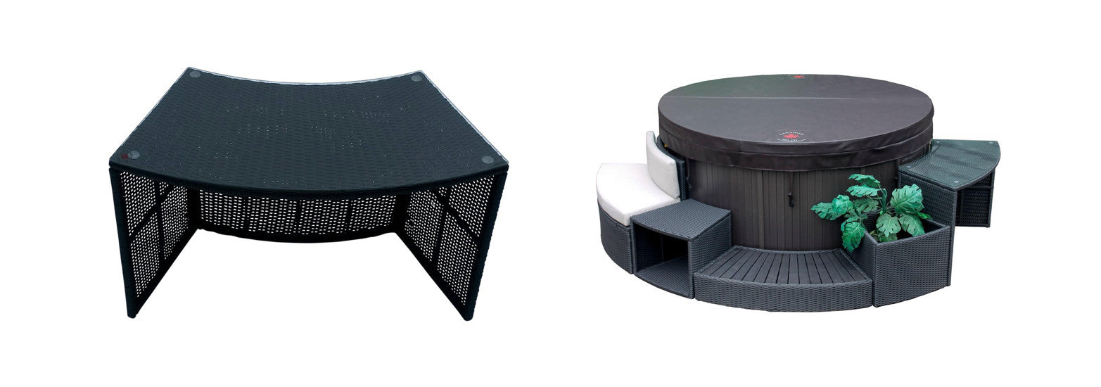 round bar table for canadian spa company hot tubs