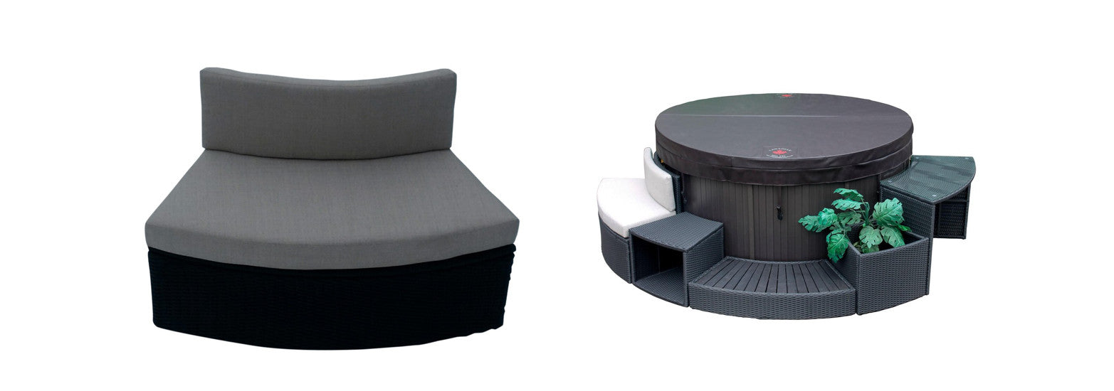round loveseat for canadian spa company hot tubs