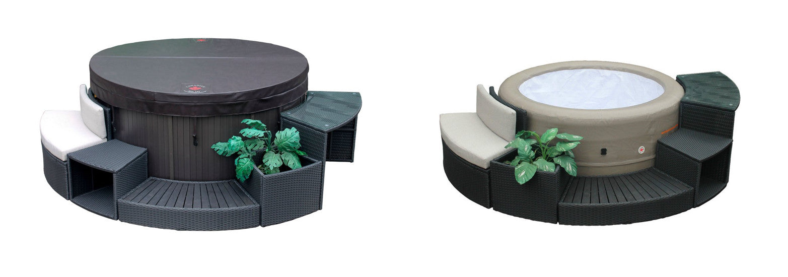 round spa full set of furniture for canadian spa company hot tubs