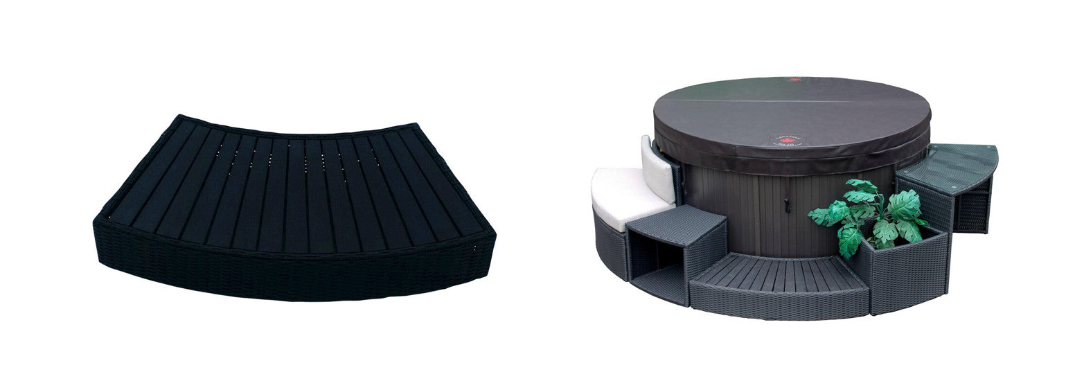 round spa step for canadian spa company hot tubs