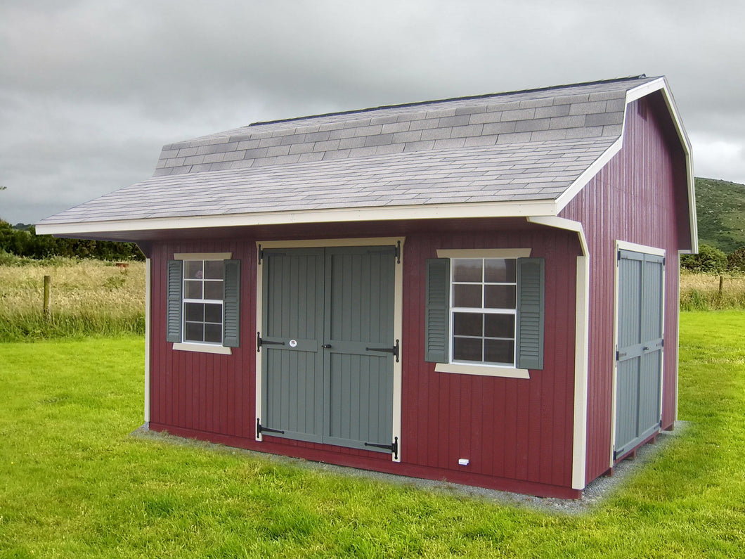 Classic Small Barn with Overhang - Panelized Kit