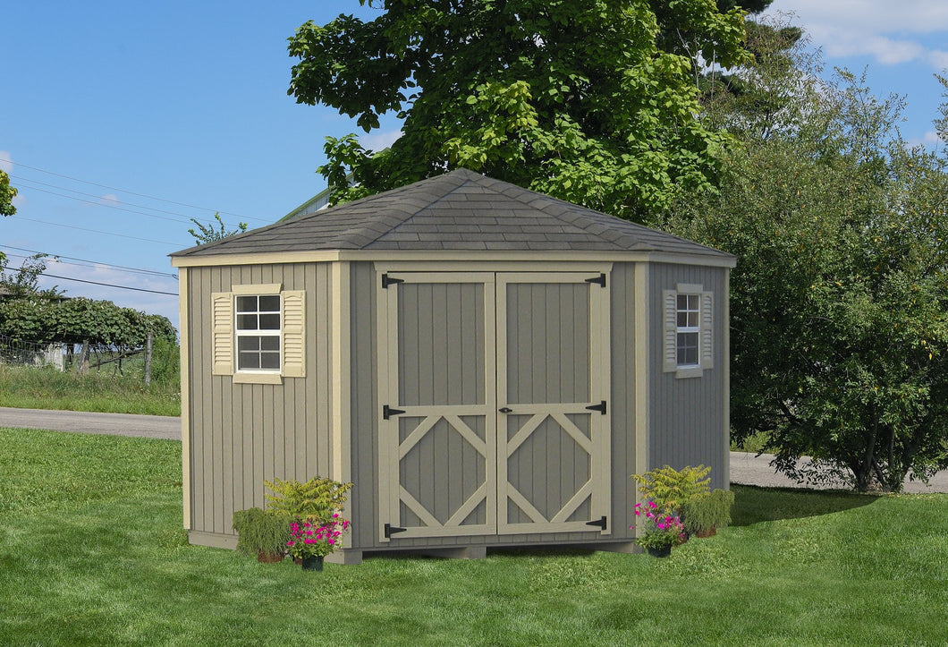 Classic Five Corner Shed - Panelized Kit