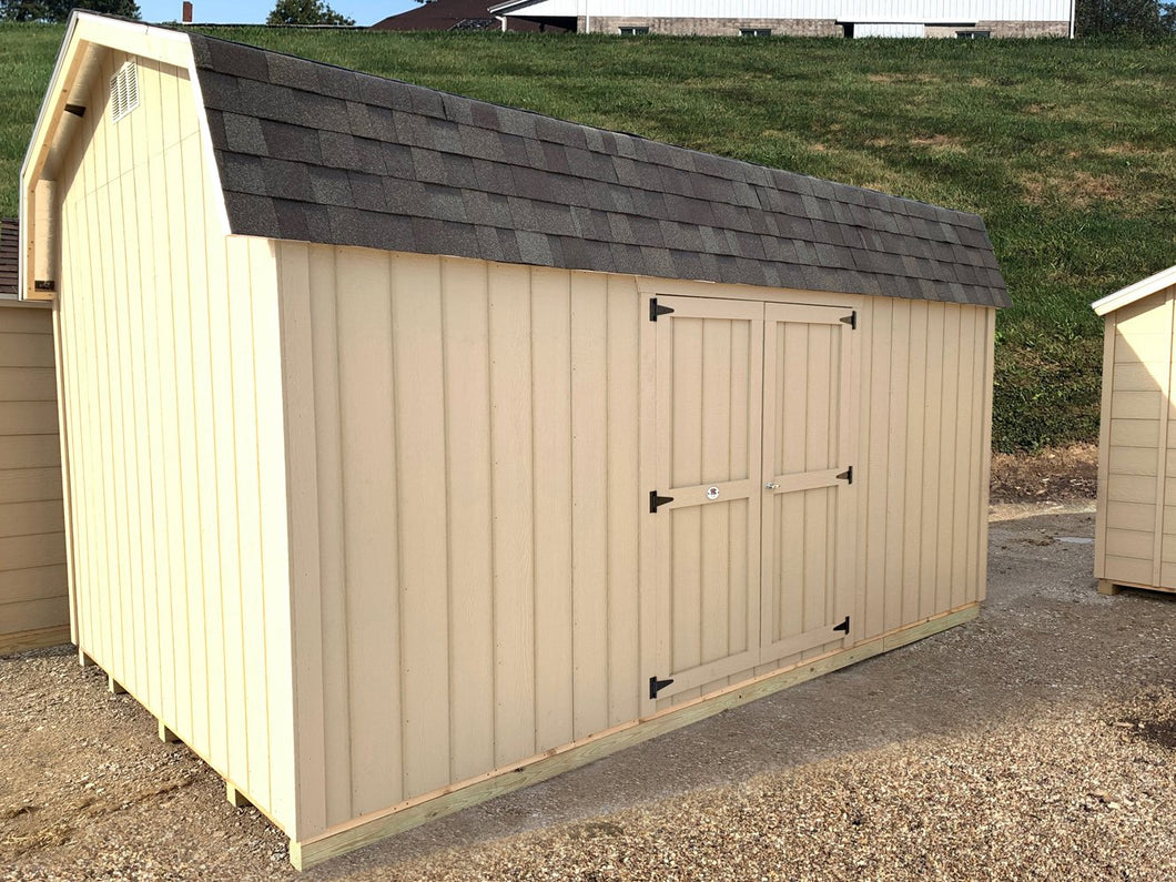 Classic Gambrel Barn 6' Sidewalls w/Side Door Placement- Panelized Kit